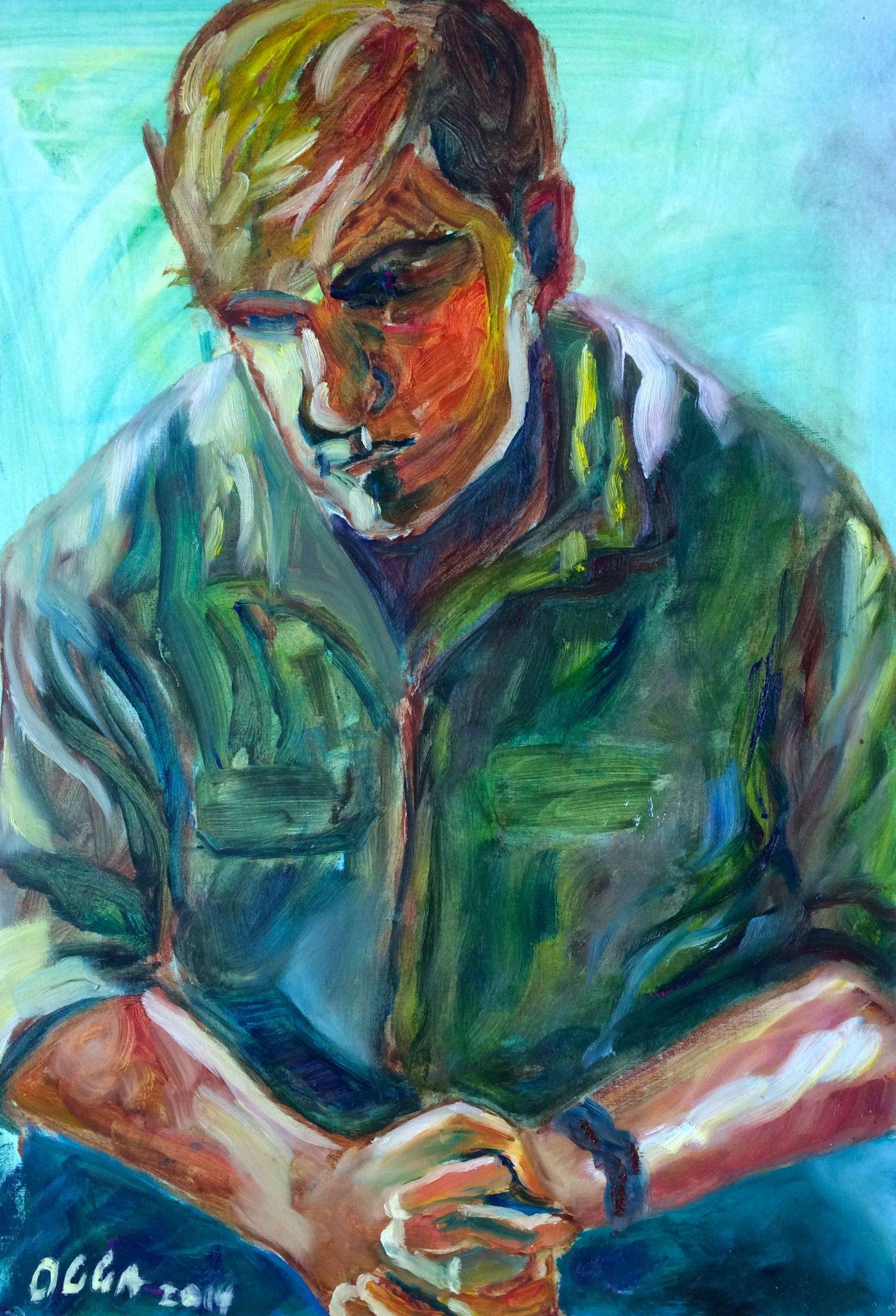 Man painting   Olga Bakhtina