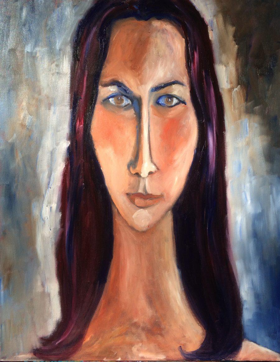 Kristina painting | by Olga Bakhtina