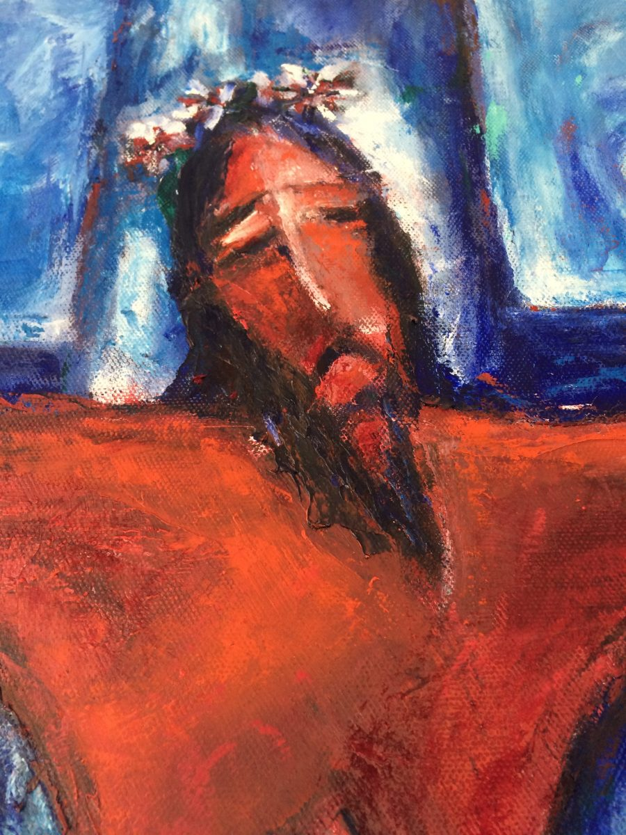Jesus on the Cross painting | by Olga Bakhtina