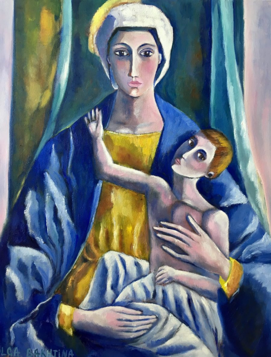 Madonna and Child (Mary and Child) painting | by Olga Bakhtina