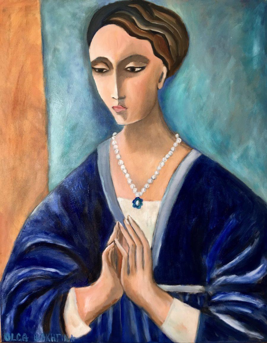 Madonna in Prayer (Mary in Prayer) painting   by Olga Bakhtina