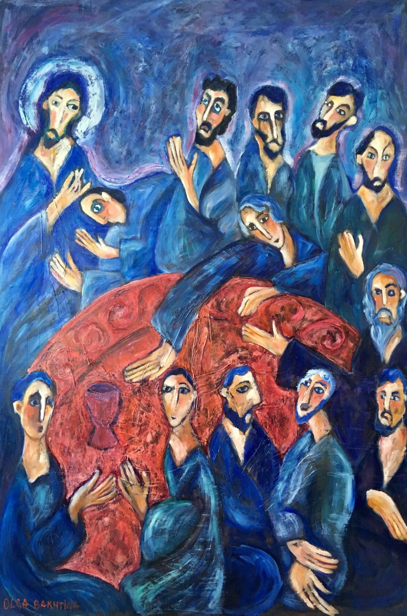 The Last Supper painting | Olga Bakhtina