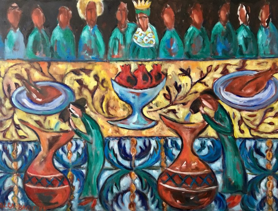 Wedding in Cana /Turning water into wine painting | by Olga Bakhtina