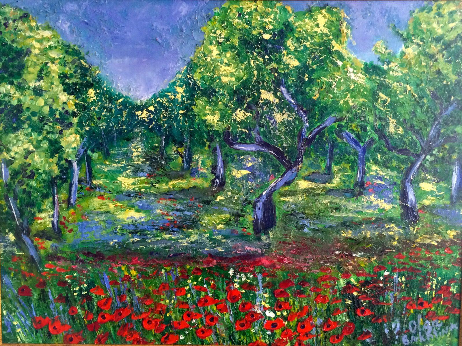 French Poppies painting | Olga Bakhtina