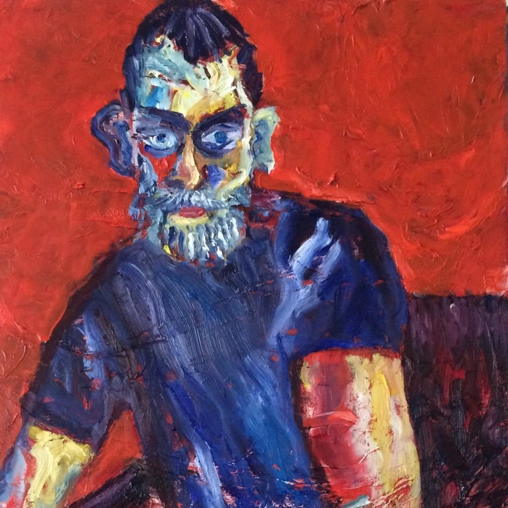 Young man in blue   Olga Bakhtina